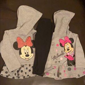 Disney Minnie Mouse 3T Tops & Legging Set